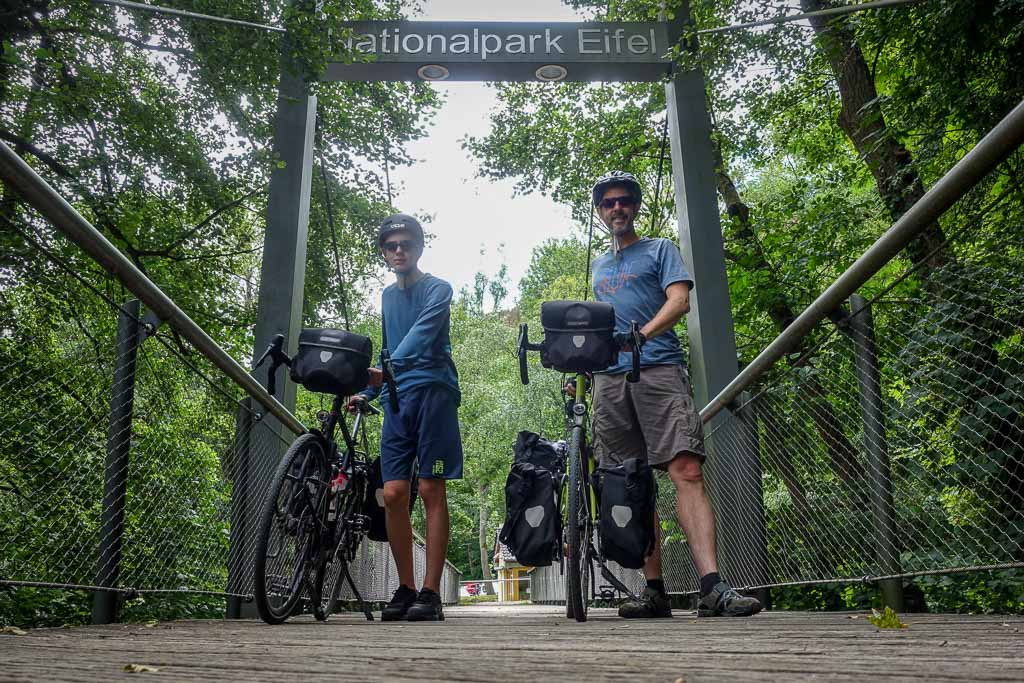 Rurstausee Radtour Eingang zum Nationalpark Eifel