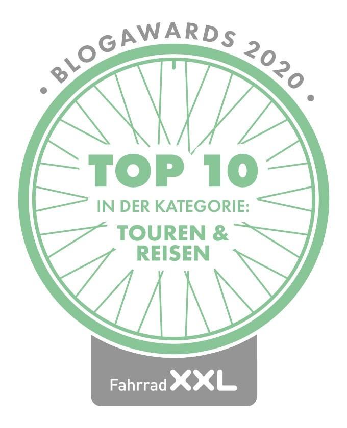 Radreiseglück Blogaward Platz 5